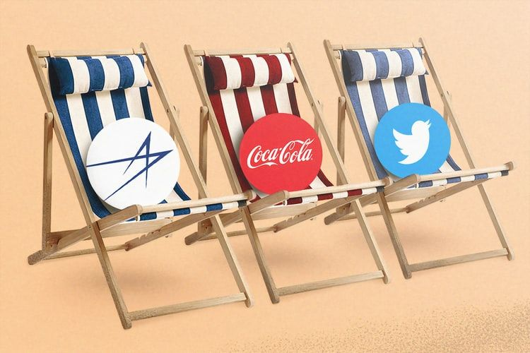 3 company logos sitting on deckchairs